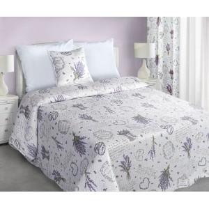 Biele obojstranné prehozy na posteľ vintage