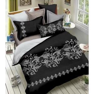 Posteľné obliečky v čierno sivej farbe vintage 160x200