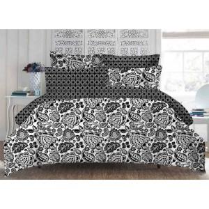 Súprava posteľných obliečok v čierno bielej farbe vintage 160 x 200