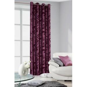 Elegantné hotové závesy do izby fialovej farby vintage