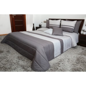 Luxusné prehozy na posteľ v sivých farbách