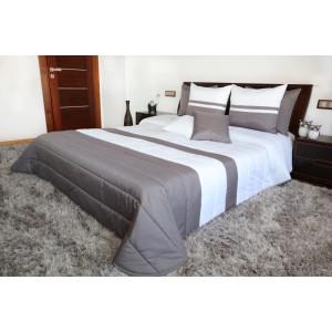 Prikrývky na manželskú posteľ bielo sivej farby