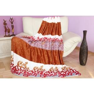 VINTAGE deky v krémovo červenej farbe
