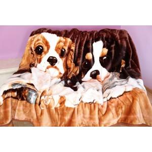 Akrylové deky 160x210 s motívom psov
