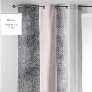 Sivo ružový škandinávsky záves