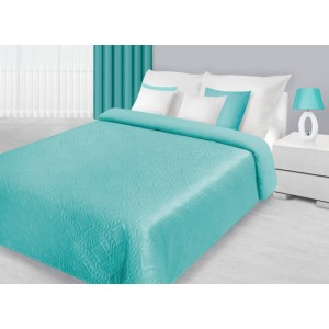 Kvalitné prehozy na posteľ v mentolovej farbe