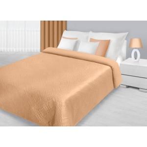 Oranžové dekoračné prehozy na posteľ s prešívaným vzorom
