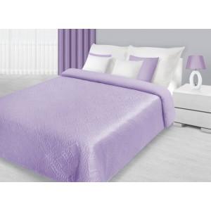 Moderné fialové prehozy na dvojlôžko s prešívaným motívom