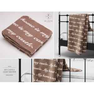 Luxusné plyšové deky v hnedej farbe