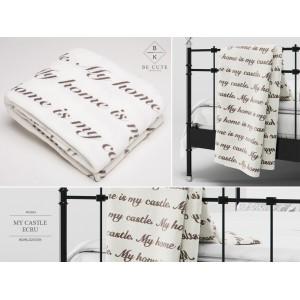 Krémové plyšové deky a prikrývky