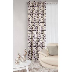 Záves do detskej izby s fialovým vzorom