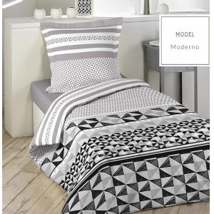 b0ad0b22011d6 Posteľné obliečky z bavlny so vzorom geometrických útvarov