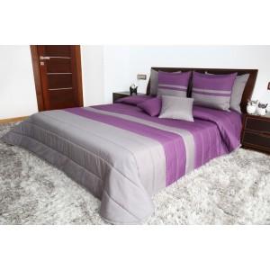 Fialové prehozy na posteľ