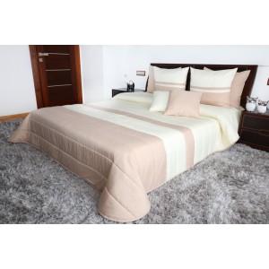 Kvalitné béžové prehozy na manželskú posteľ