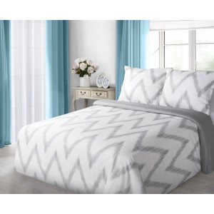 Biele bavlnené obliečky na posteľ