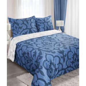 Modré posteľné obliečky 200x220 cm s ornamentami