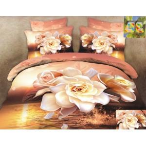 Bavlnené posteľné obliečky s motívom ruží