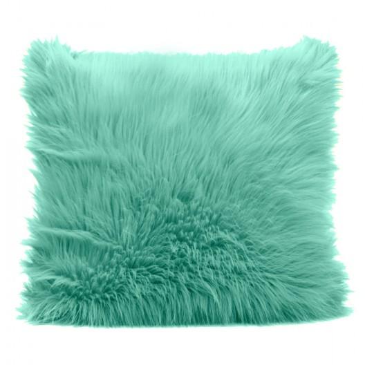 Zelená dekoračná obliečka na vankúš