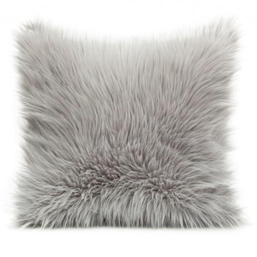 Sivá luxusná obliečka na vankúš 45cm x 45cm