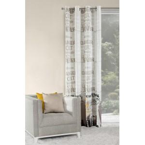 Luxusné sivé závesy na okná 140x250 cm