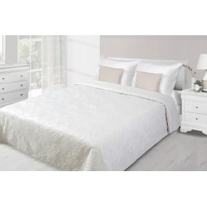 Krémový prehoz na posteľ s prešívaným motívom