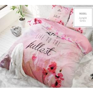 Bavlnené ružové posteľné obliečky 140x200 cm