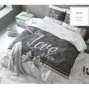 Biele bavlnené posteľné obliečky LOVE