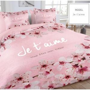 Súprava bavlnených posteľných obliečok so vzorom kvetov
