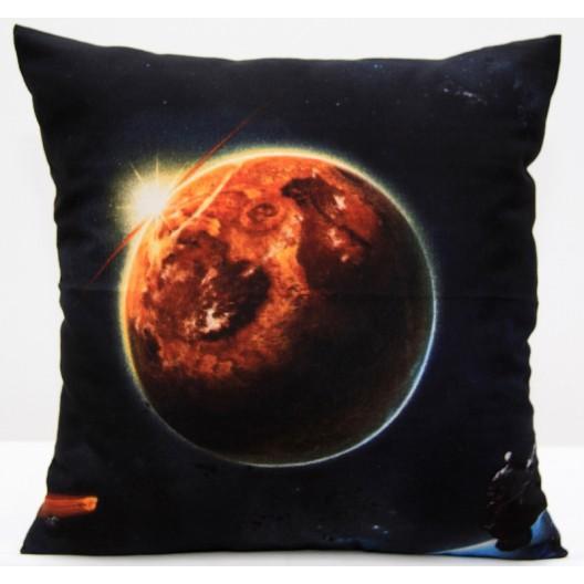 Čierna obliečka na vankúš so vzorom mesiaca