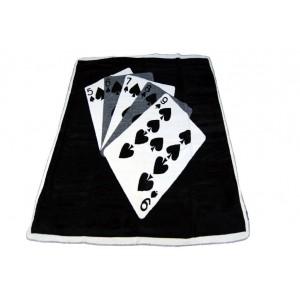Čierna deka s motívom kariet