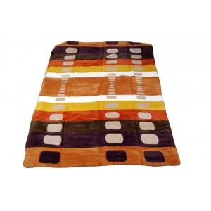Hrubá farebná deka 100 x 150 cm