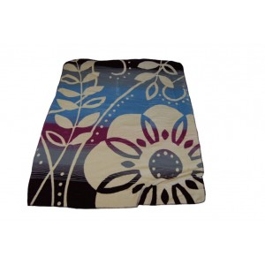 Béžová deka do obývačky so vzorom