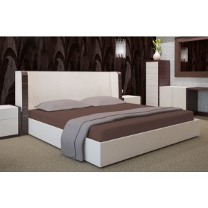Hnedá plachta na posteľ 180x200 cm