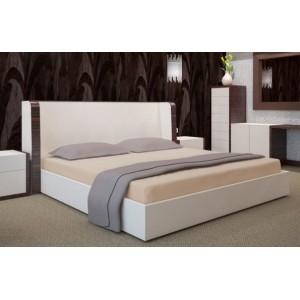 Bavlnené svetlohnedé prestieradla na postele
