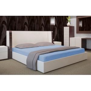 Modré prestieradlo na posteľ 160x200 cm
