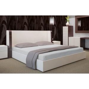 Svetlo sivé bavlnené prestieradlá na postele