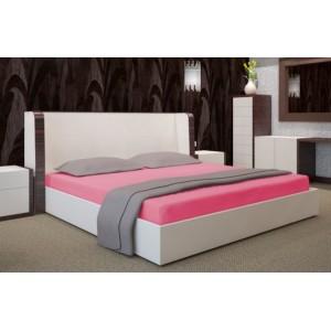 Bavlnená ružová plachta na posteľ