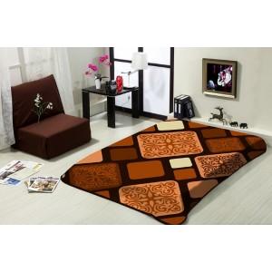 Hnedá deka na posteľ 160x220 cm