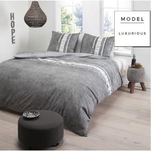 Sivá súprava bavlnených posteľných obliečok