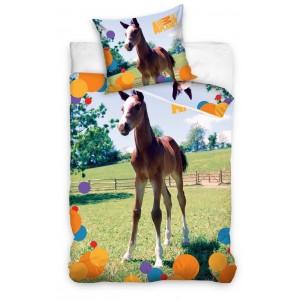 Bavlnené posteľné obliečky s koníkom