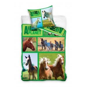 Moderné posteľné obliečky s motívom koní