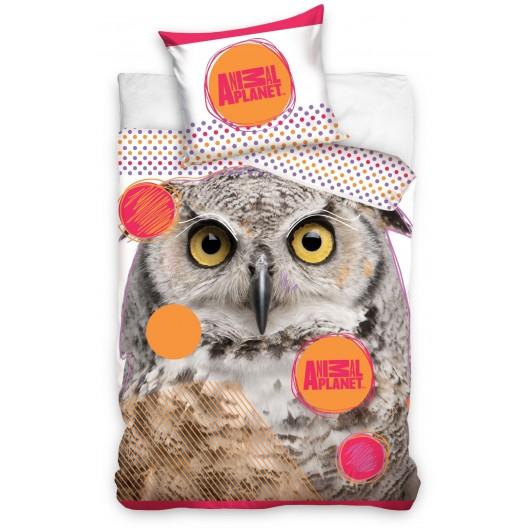 Detské posteľné obliečky so sovou