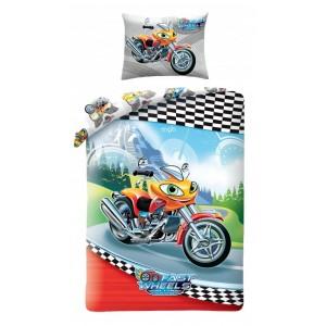 Chlapčenské posteľné obliečky s motorkou