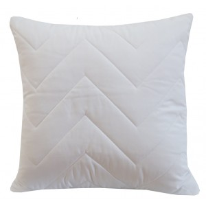 Dekoračná obliečka na vankúš bielej farby
