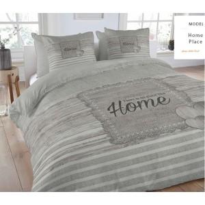 Sivé posteľné obliečky HOME
