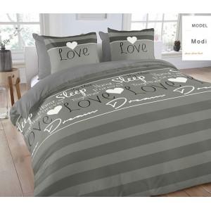 Sivé posteľné obliečky Love