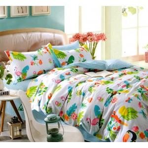 Detské posteľné obliečky s farebným motívom