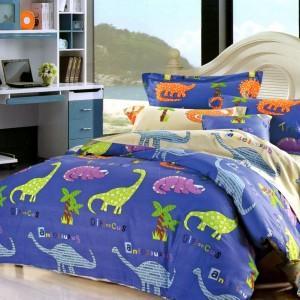 Detské posteľné obliečky s dinosaurami