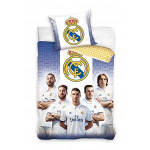 Biele posteľné obliečky Real Madrid