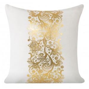 Ozdobná obliečka na vankúš so zlatým vzorom